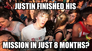 justin finished his