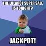 the lularoe super sale is tonight?