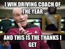 I win Driving coach of the year